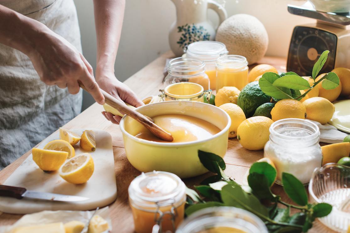 crema cuajada de limón